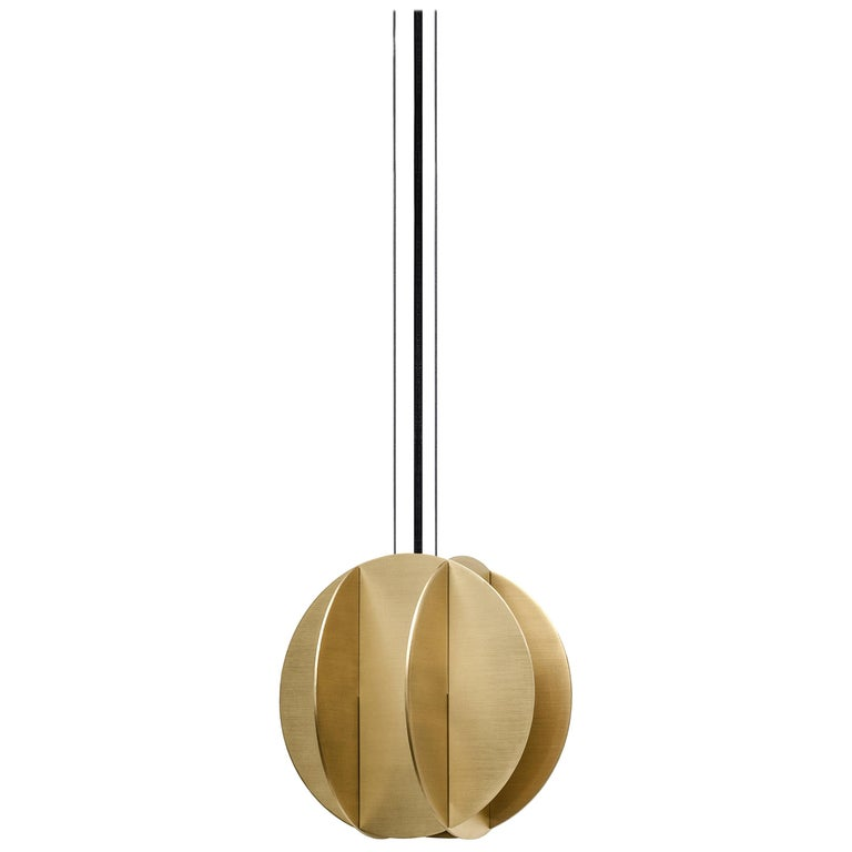 Contemporary Pendant Lamp EL Lamp small CS1 by NOOM in Brass For Sale