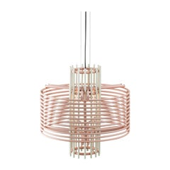 Contemporary Pendant Lamp 'Nova' by AGO 'Pink and White'