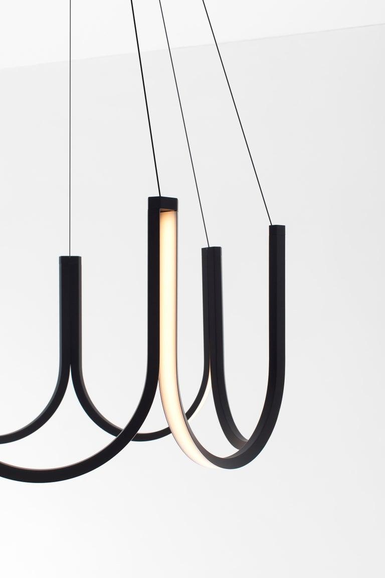 Minimalist Contemporary Pendant Lamp 'U7' Black For Sale