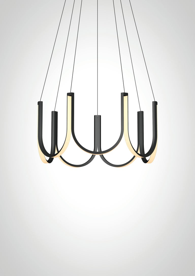 Contemporary Pendant Lamp 'U7' Black For Sale 2