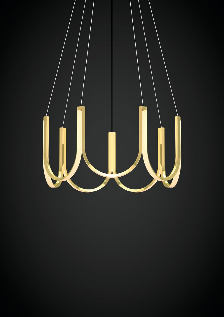 U7 pendant lamp, brass