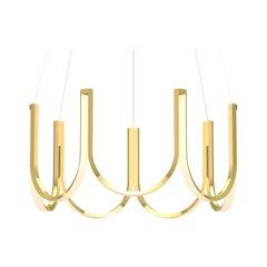 Contemporary Pendant Lamp 'U7' Brass