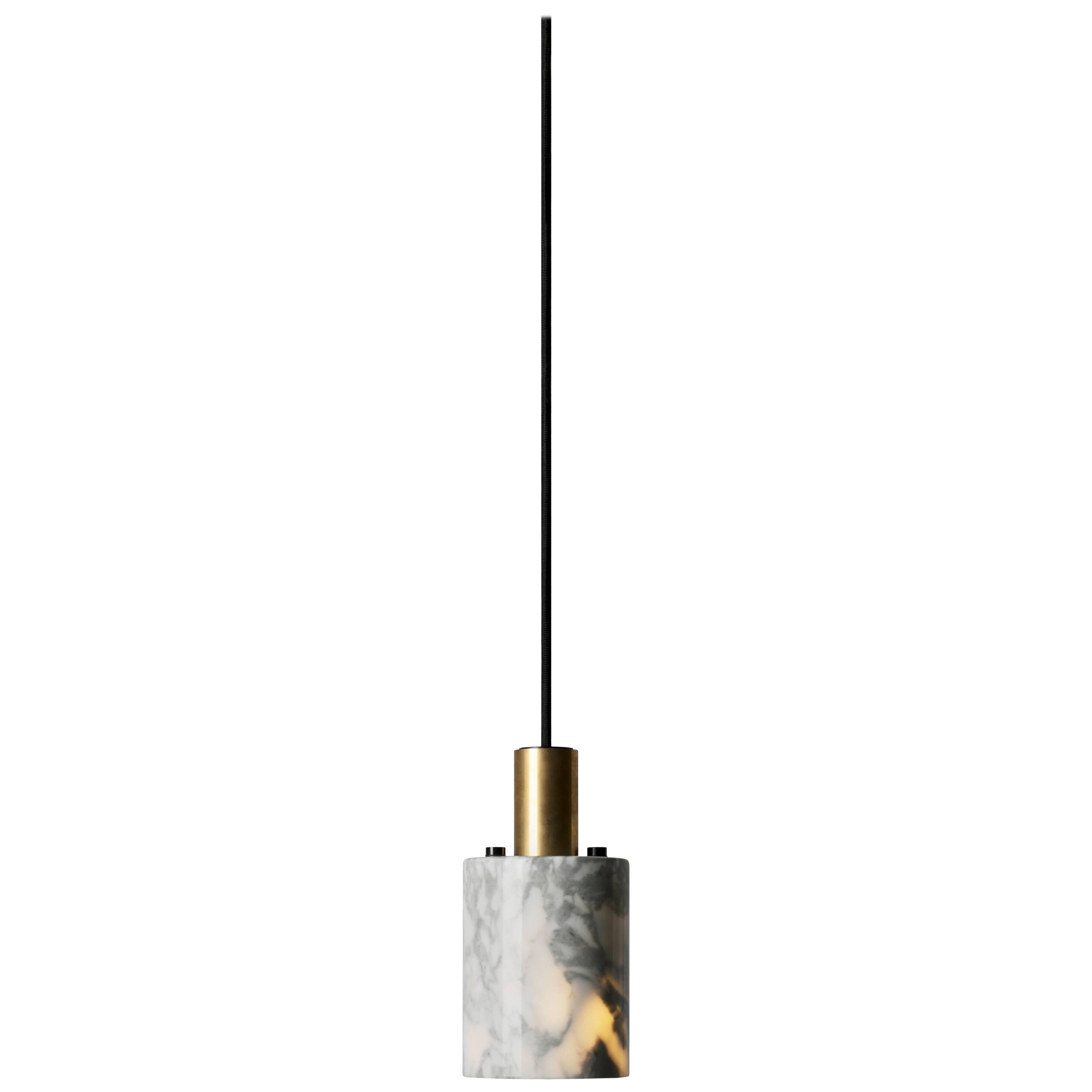 Contemporary Pendant Lamps 'N' in White Marble