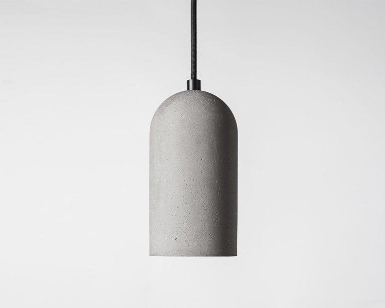 Contemporary Pendant Lamps 'U' in Black Lava Stone For Sale 4