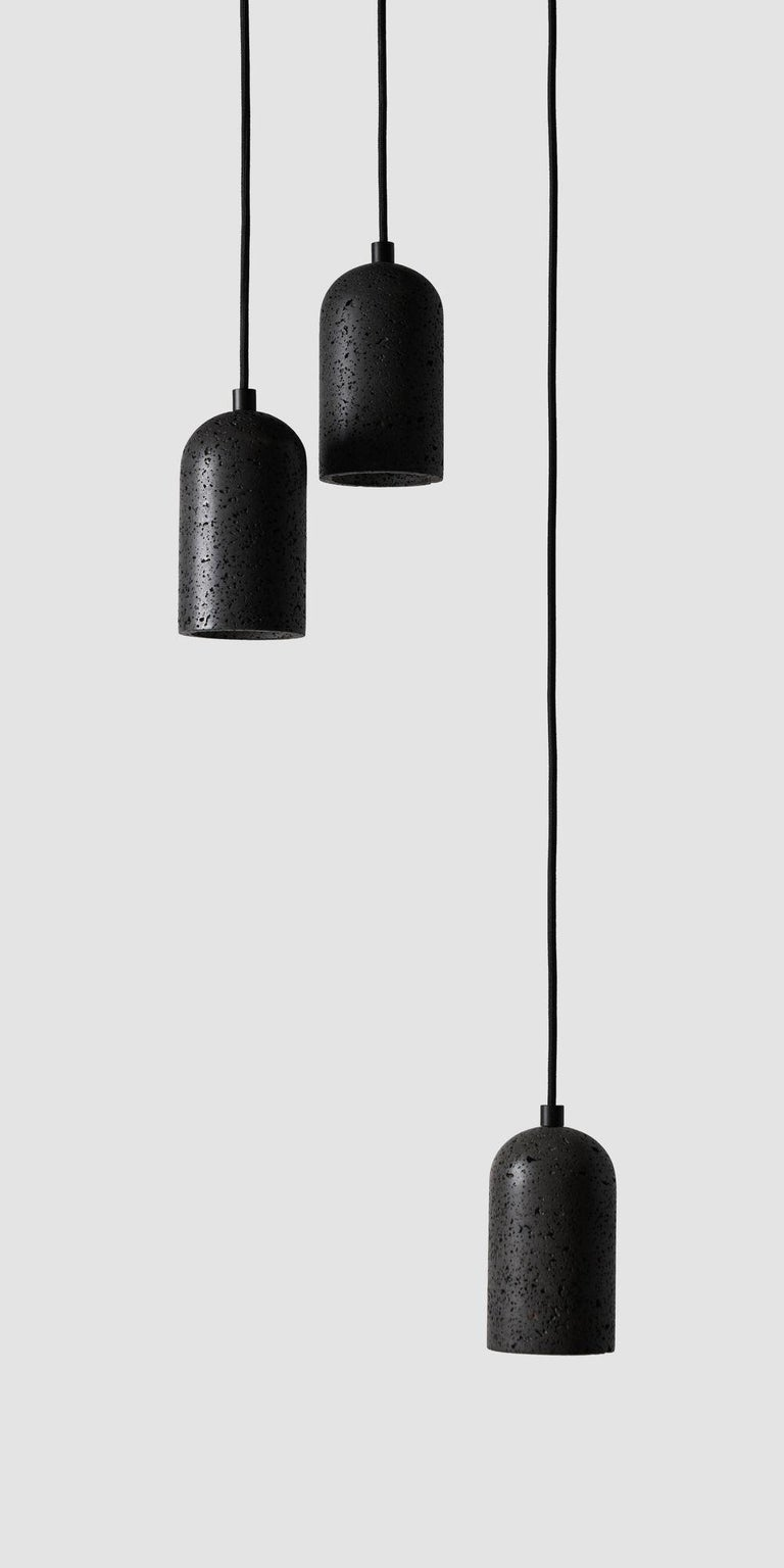 Chinese Contemporary pendant lamps 'U' in white marble For Sale