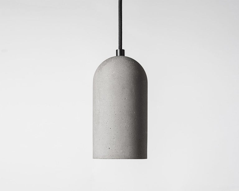 Contemporary pendant lamps 'U' in white marble For Sale 3