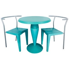 Philippe Starck for Kartell Mint Green Bistro Set, 3 Pieces