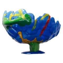 Contemporary Polyurethane Foam Blue Vase