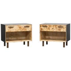 Contemporary Poplar Wood Pair of Nightstands by Johannes Hock