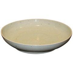 Contemporary Porcelain Celadon Shallow Bowl
