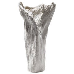 Contemporary Porcelain Sculpture Tree Trunk White Ceramic Italy Fos Ltd Edition