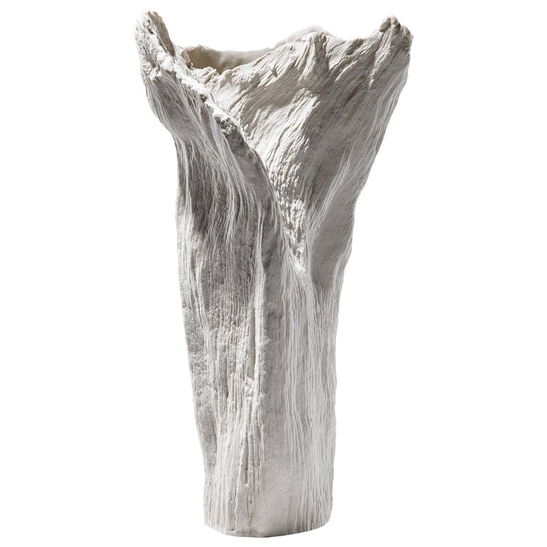 Contemporary Porcelain Sculpture Tree Trunk White Ceramic Italy Fos Ltd Edition For Sale