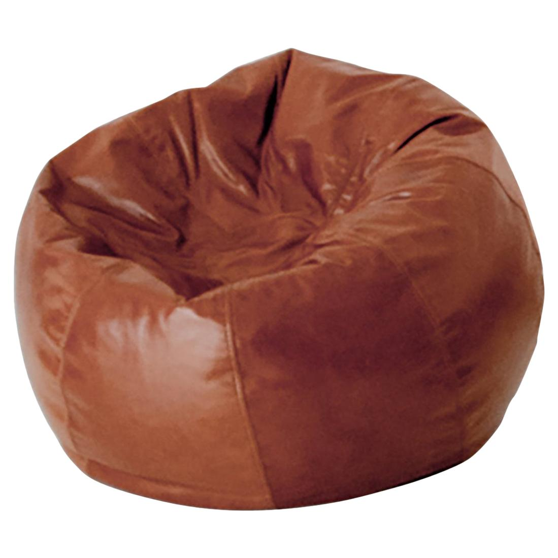 Contemporary Pouf Beanbag in Leather