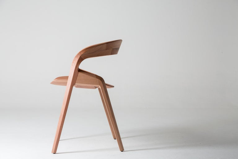 Brazilian Contemporary Pris Chair in Jequitibá Wood by Guto Indio da Costa, Brazil For Sale