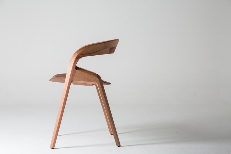Woodwork Contemporary Pris Chair in Jequitibá Wood by Guto Indio da Costa, Brazil For Sale