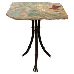 Contemporary Quartz Table with Branch Form Base