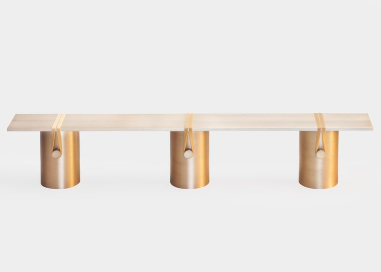 Modern Contemporary 'RB02, Anodised' Bench in Anodised Aluminum For Sale
