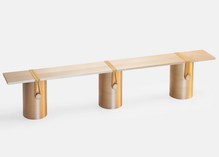Dutch Contemporary 'RB02, Anodised' Bench in Anodised Aluminum For Sale