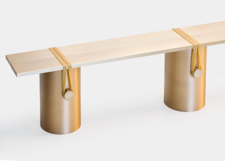 Anodized Contemporary 'RB02, Anodised' Bench in Anodised Aluminum For Sale