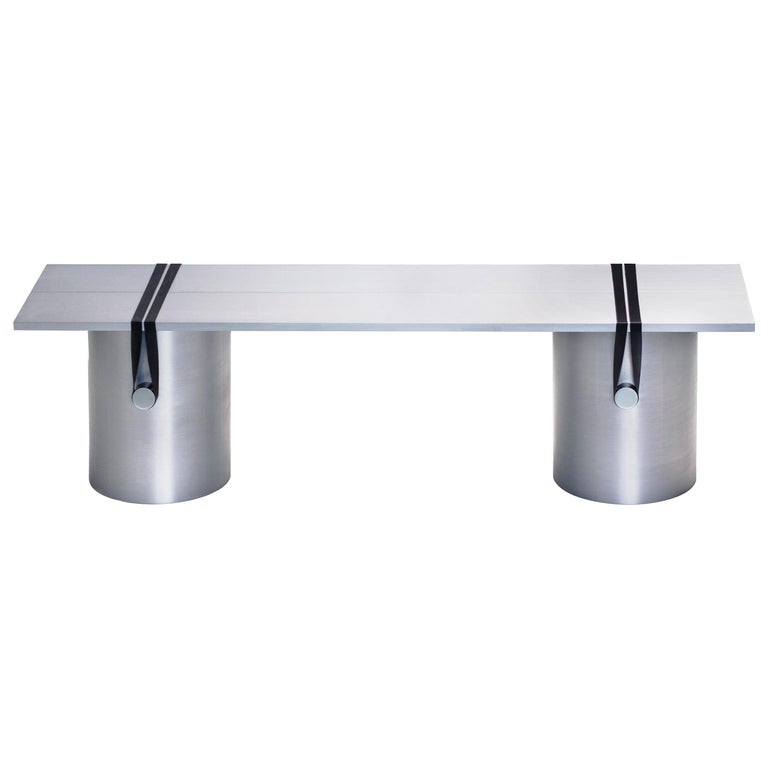Contemporary 'RB03' Bench or Table in Anodized Aluminium For Sale