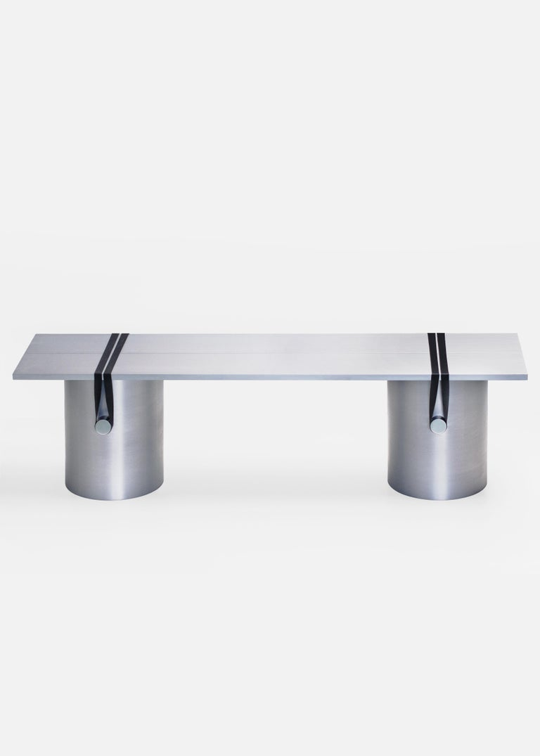 Modern Contemporary 'RB03' Bench or Table in Anodized Aluminium For Sale