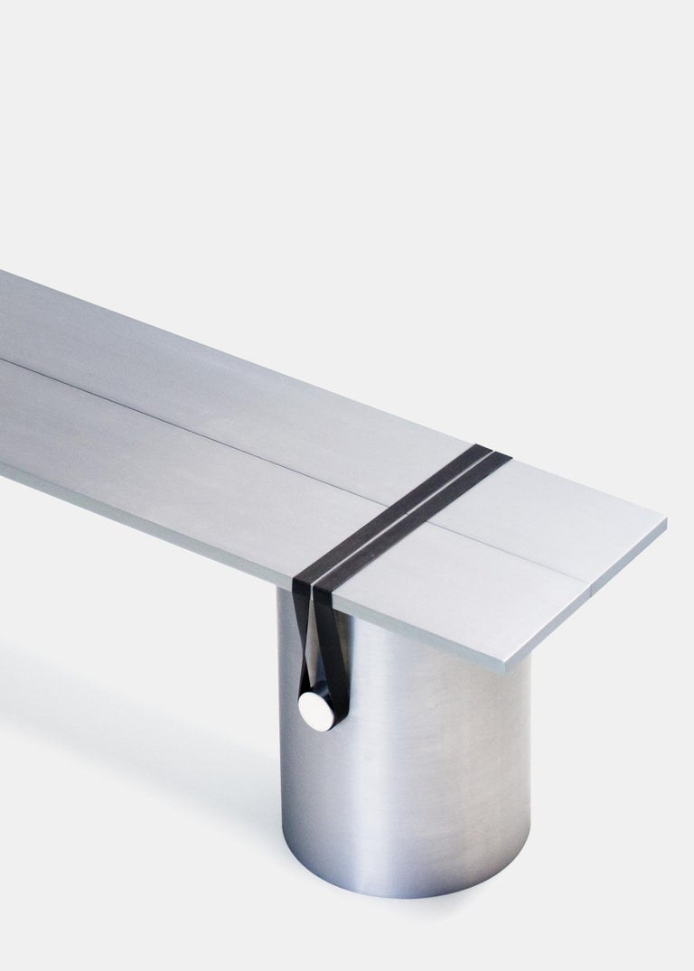Aluminum Contemporary 'RB03' Bench or Table in Anodized Aluminium For Sale