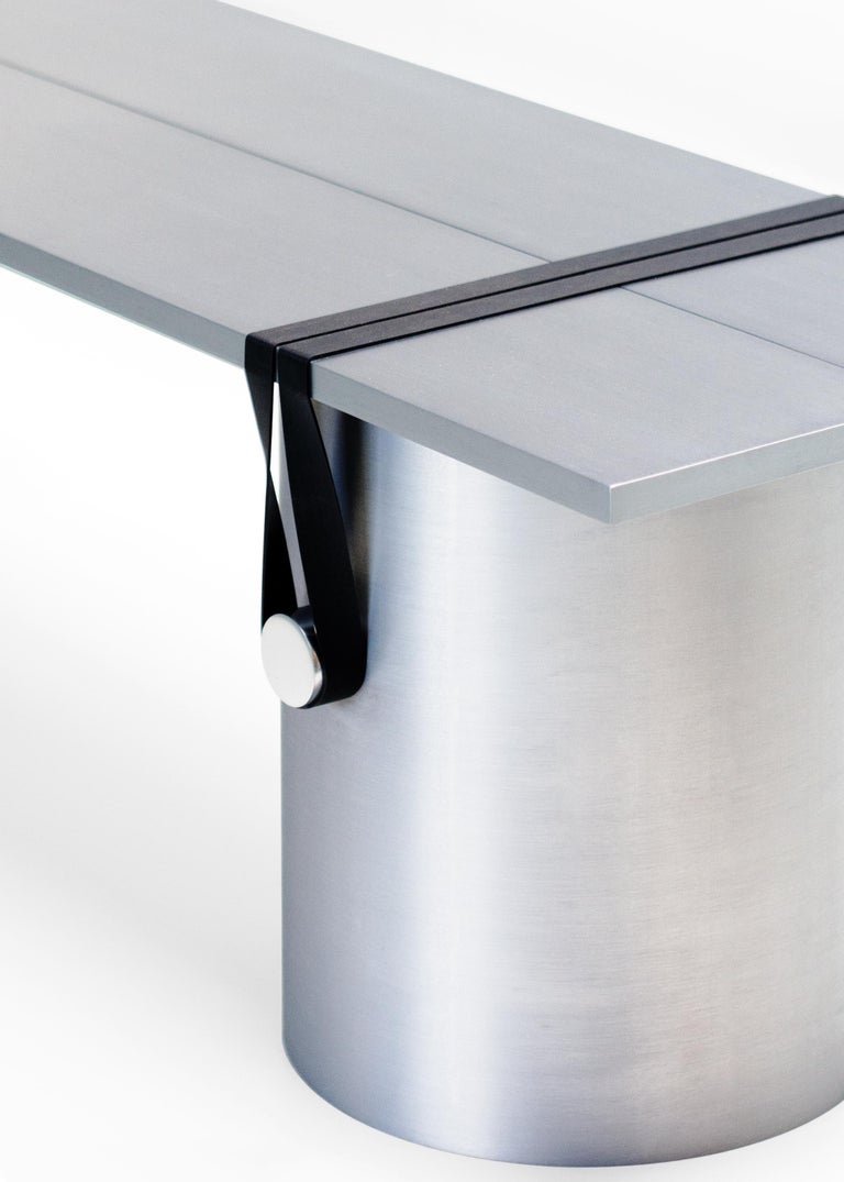 Contemporary 'RB03' Bench or Table in Anodized Aluminium For Sale 1