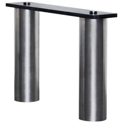 Contemporary 'RC01' Console in Steel and Marble