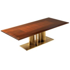 Contemporary Rectangular Dining Table in Solid European Walnut