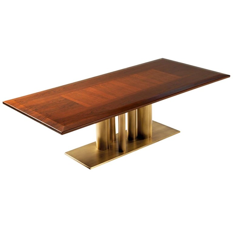 Contemporary Rectangular Dining Table in Solid European Walnut For Sale