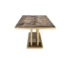 Contemporary Rectangular Marble Dining Table