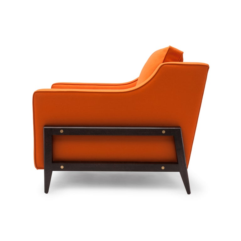 The Reposer has been thoughtfully created with a relatively low, soft back and a generous seat depth encouraging you to repose.  Construction: solid beech frame with a sprung seat. The seat cushion has a foam core with a feather and down wrap,