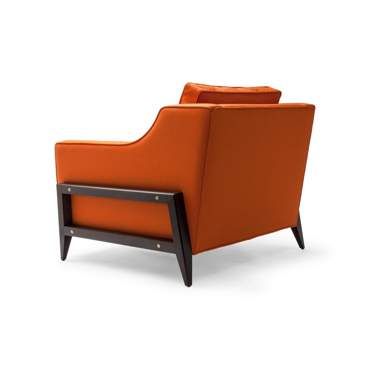 Modern Contemporary Reposer Special Edition Chair in British Wool and Walnut Legs For Sale