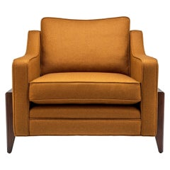 Contemporary Reposer Special Edition Chair in British Wool and Walnut Legs