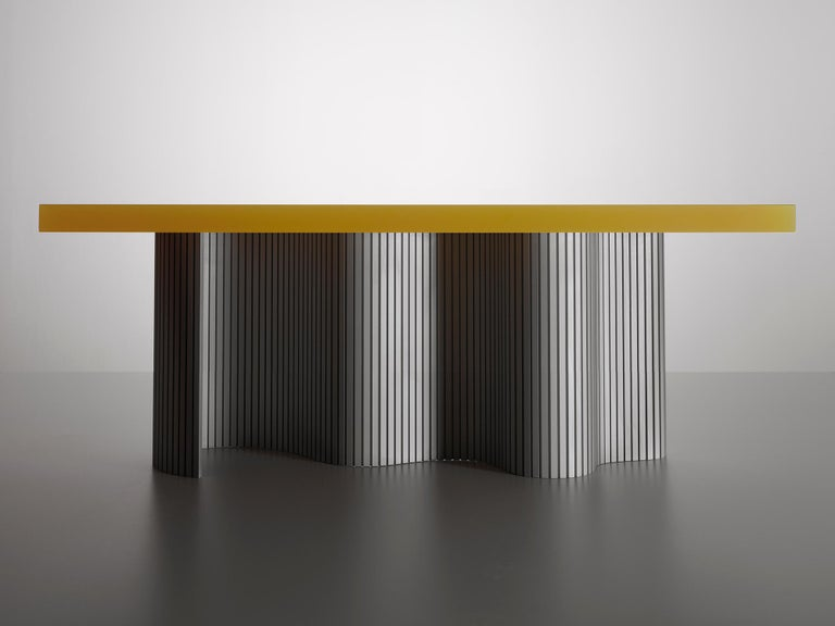Modern Contemporary Resin Coffee Table, Yellow Spine Table, by Erik Olovsson For Sale