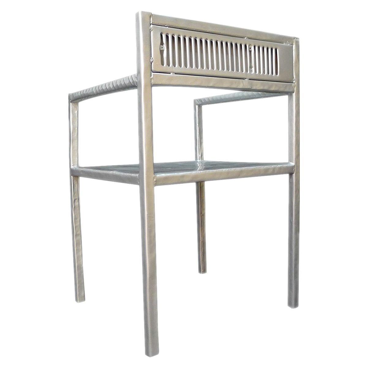"Contemporary Reta Chair from ""Cars Never Die"" Collection by Alê Jordão, Brazil"