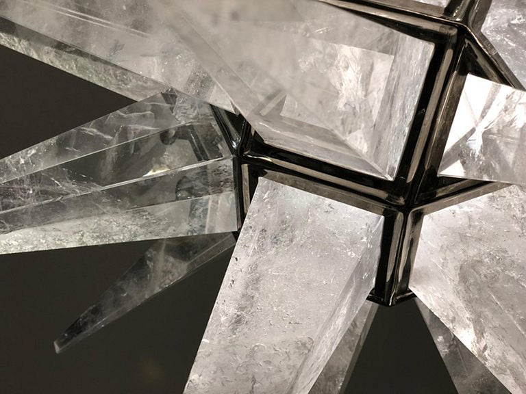 Contemporary Rock Crystal Quartz Star Chandelier For Sale 5