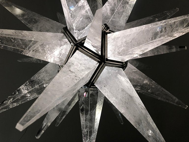 Contemporary Rock Crystal Quartz Star Chandelier For Sale 6