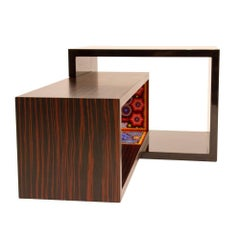 Contemporary Rosewood and Bead Coffee Table by Alire De Alvarez