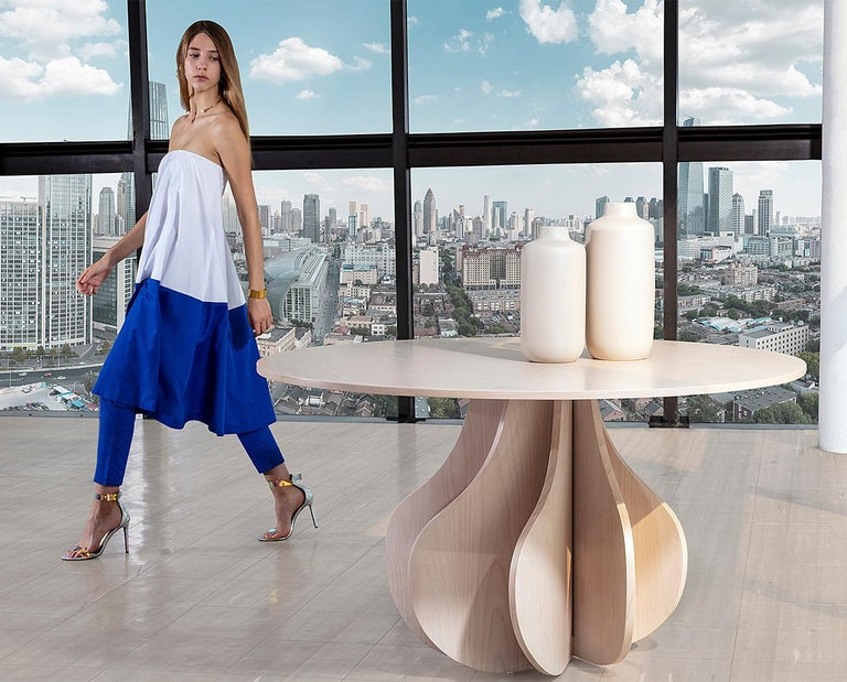 Yuli dining table, inspired in the heart and conceived in the mind.