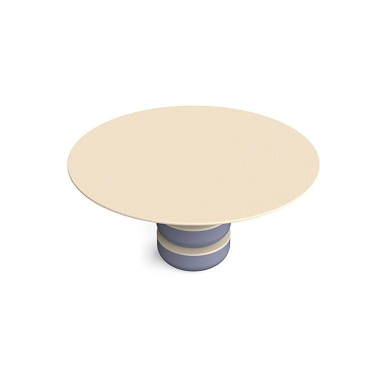 Mid-Century Modern Contemporary Round Dining Room Table in Solid Wood For Sale