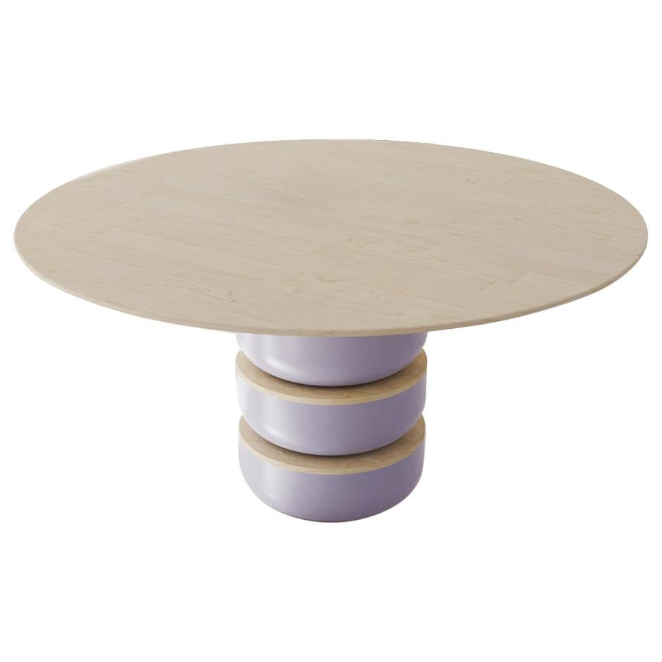Contemporary Round Dining Room Table in Solid Wood