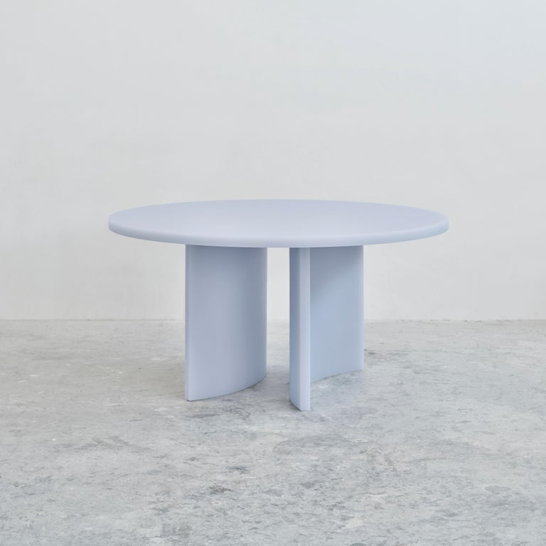 Sabine Marcelis' SOAP Tables are designed with the sound psychology of dining in mind. When people are dining, things they put on the table resonate a muted sound thanks to the nature of the resin. 