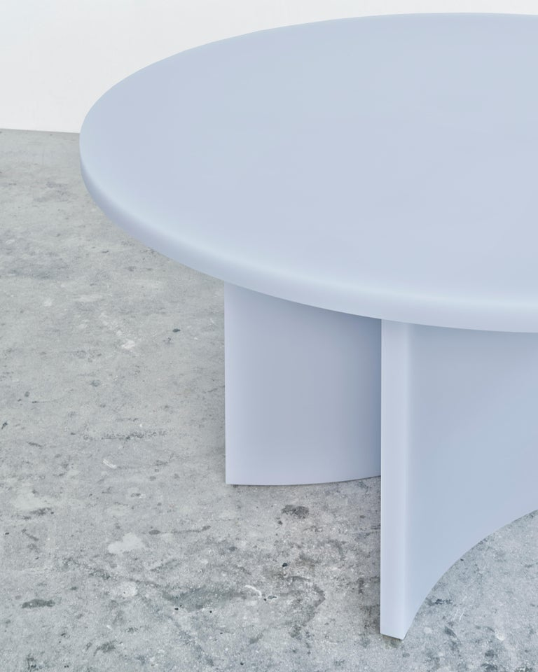 Dutch Contemporary Round Dining Table by Sabine Marcelis, Matte Resin, Ice Lavender For Sale