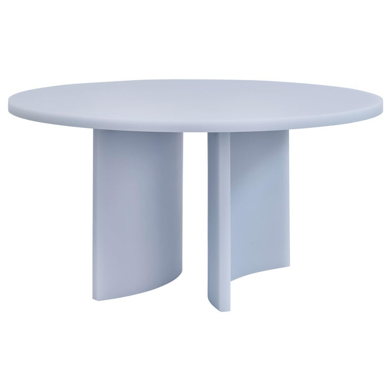 Contemporary Round Dining Table by Sabine Marcelis, Matte Resin, Ice Lavender For Sale