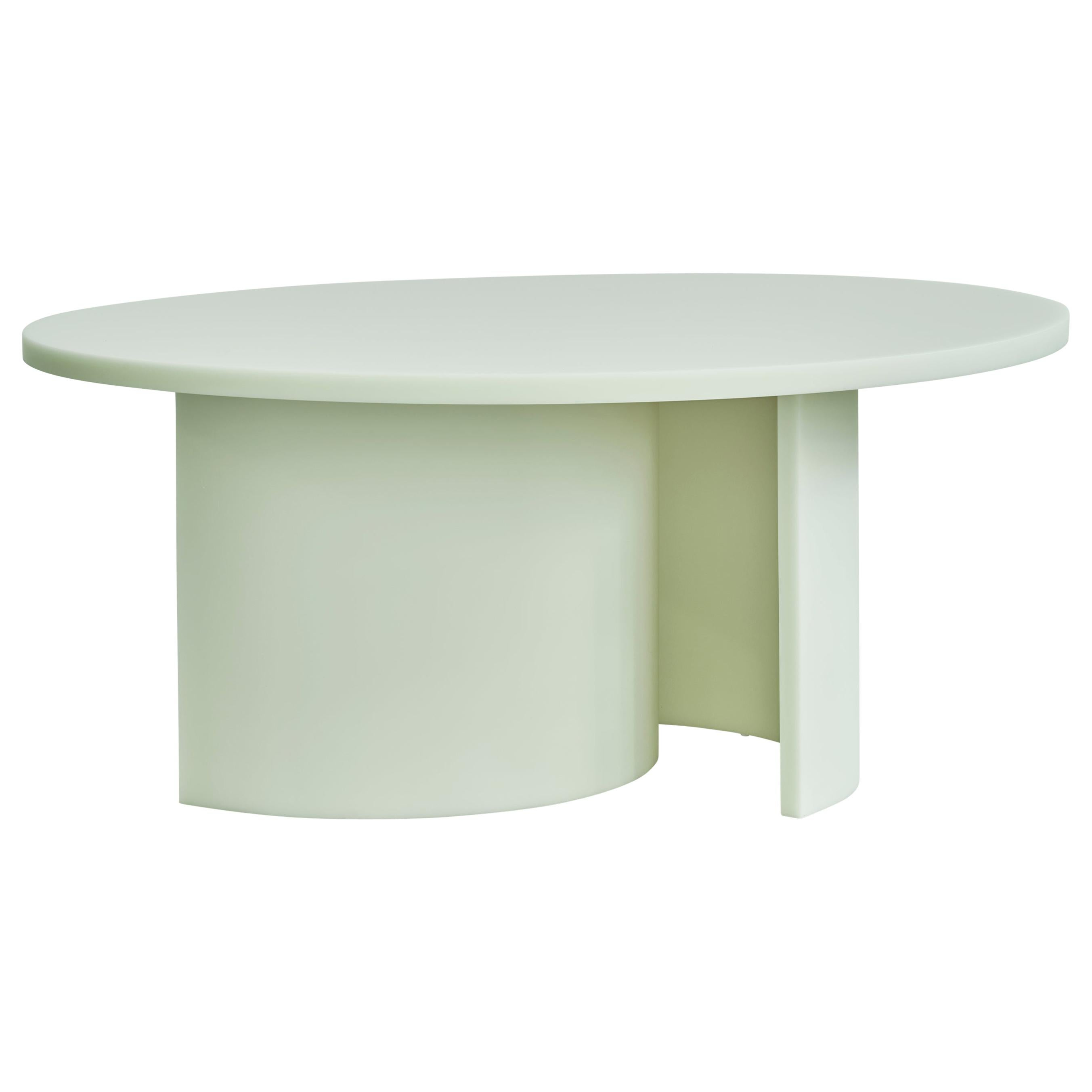 Contemporary Round Dining Table by Sabine Marcelis, Matte Resin, Mint
