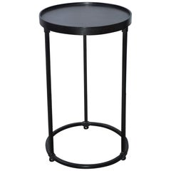 Contemporary Round Metal Side Table