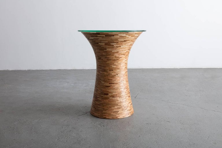 Modern STACKED Round Side Table by Richard Haining, Custom, Coffee Table For Sale
