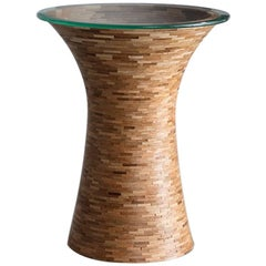 STACKED Round Side Table, by Richard Haining, shown in Oak, Customizable