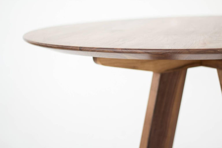 Mexican Contemporary Round Table, Walnut Designed by LCMX For Sale